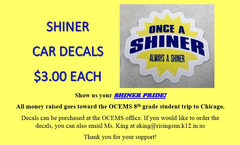 Shiner Car Decals